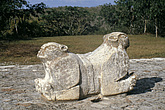 Uxmal, Yucatán, Mexico - Palace of the Governors - Double headed jaguar throne - 23952-210-1
