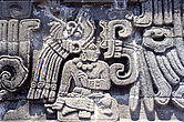 Xochicalco, Mexico - Detail from the Temple of the Feathered Serpent - 23957-20-1