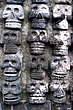 Tenochtlitlan, Mexico City - Detail of the Tzompantli or skull rack in the Templo Mayor - 23959-160-1