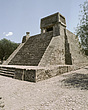 Tenochtlitlan, Mexico City - Santa Cecilia Acatitlan - Small Aztec temple pyramid - 23959-20-1