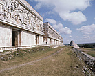 Uxmal, Yucatán, Mexico - Palace of the Governors with the Temple of the Magician in the background - 23952-30-1