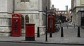 Post boxes, phone boxes and bollards, London - 11339-160-1