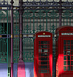Red telephone boxes, Smithfield Market, Smithfield, London - 11374-100-1