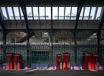 Red telephone boxes, Smithfield Market, Smithfield, London - 11374-90-1