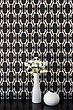 Ladies Gallore wallpaper in silver, vase and flowers - 12353-170-1