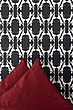 Ladies Gallore wallpaper in silver with crimson cushions - 12353-180-1