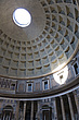 The ceiling and natural spotlight at The Pantheon, Rome, Italy - 12036-20-1