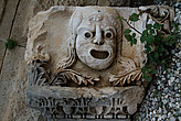 Frieze of stone mask from ancient theatre, Myra - 10644-220-1