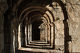 Interior arches of corridor at the Roman Amphitheatre, Aspendos - 10644-140-1