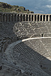 Steps, seating and arches at   the Roman Amphitheatre, Aspendos - 10644-170-1