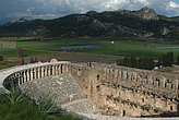 Steps, seating and arches at   the Roman Amphitheatre, Aspendos - 10644-180-1