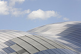 The Sage Gateshead (RIBA Inclusive Design Award) against sky with cumulus clouds, Newcastle Upon Tyne, UK - 31876-10-1