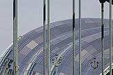 The Sage Gateshead (RIBA Inclusive Design Award) seen through the Tyne Bridge, Newcastle Gateshead, UK - 31876-170-1