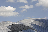 The Sage Gateshead (RIBA Inclusive Design Award) against sky with cumulus clouds, Newcastle Upon Tyne, UK - 31876-20-1