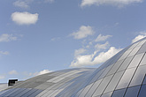 The Sage Gateshead (RIBA Inclusive Design Award) against sky with cumulus clouds, Newcastle Upon Tyne, UK - 31876-30-1