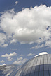 The Sage Gateshead (RIBA Inclusive Design Award) against sky with cumulus clouds, Newcastle Upon Tyne, UK - 31876-40-1