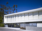 White shuttered exterior of modern residential Briarcrest House, on Beverly Hills, California, USA - 12600-70-1