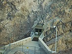 New crane operators control room looking out into the Hoover Dam - 12598-390-1