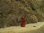 Red fire hydrant at Hoover Dam - 12598-80-1