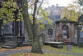 View of Edinburgh Castle from the Churchyard of Greyfriar's Church (where Greyfriar's Bobby is buried), Edinburgh - 12617-70-1