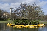 Pedaloes in the pond, Regent's Park, London NW1 - 12656-900-1