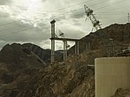 View of the new Hoover dam bridge (under construction to span from Nevada to Arizona) from the Hoover dam - 12598-10-1