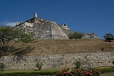 Fort San Felipe, originally built in the 17th century, Cartagena de Indias, Colombia - 12684-140-1