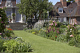 Traditional herbaceous borders in summer at the Secret Gardens of Sandwich, The Salutation, Sandwich, Kent, England, UK - 12692-130-1