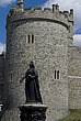 Statue of Victoria in front of Windsor Castle, Windsor, Berkshire, England - 12792-170-1