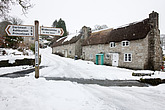 The row of cottages at Forder Cross, Ponsworthy, Dartmoor, Devon, England, UK - 12878-40-1