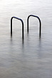 Hand rails at a tidal swimming pool in St Peters Port, Guernsey, The Channel Islands, UK - 12880-10-1