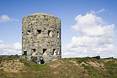 Martello Tower, an old Napoleonic coastal lookout on Guernsey, Channel Islands, England - 12880-90-1