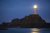 La Corbiere Lighthouse at night, designed by Sir John Coode, was Britain s first reinforced concrete lighthouse and was completed in 1874, the lightho... - 12881-50-1