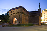 The Barbican of Krakow, a 15th century fortification that stands on the city walls of Krakow, Poland, Eastern Europe - 12882-100-1
