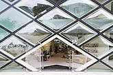 Prada shop, a glass and steel shopping experience made of diamond shaped windows, designed by Herzog & de Meuron in the fashionable Aoyama district in... - 12886-60-1