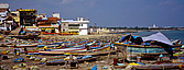 Fishing boats and canoes at Kanyakumari - 12891-10-1