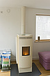 Pellet=fed wood burner and flue - 12924-240-1