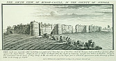 Engraving by Samuel and Nathaniel Buck, South view of Burgh Castle in the county of Suffolk  - 32142-20-1
