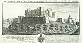 Farnham Castle - North view of Farnham Castle in the county of Surrey - 32188-10-1