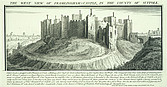 Framlingham Castle - West view of Framlingham Castle in the county of Suffolk - 32192-60-1