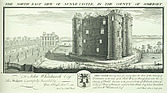 Nunney Castle - North east view of Nunye Castle in the county of Somerset - 32265-10-1