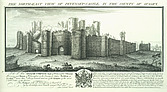 Pevensey Castle - North east view of Pevensey Castle in the county of Sussex - 32276-10-1