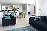 Open plan living area in residential house, UK - 12970-170-1