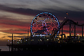 Sunset, Santa Monica beach - 12983-1040-1