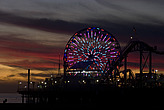 Sunset, Santa Monica beach - 12983-1050-1