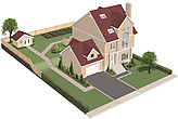illustration overview of house - 80002-40-1