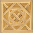 illustration wooden parquet strip flooring with Arenberg pattern - 80004-90-1