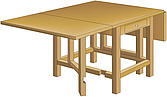 illustration gateleg table - 80005-10-1