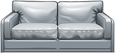 illustraton two-seater sofa or love-seat - 80005-100-1