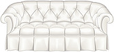 illustraton  Chesterfield button-backed sofa - 80005-120-1